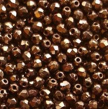 2.5mm Fire Polished, Dark Bronze - 100